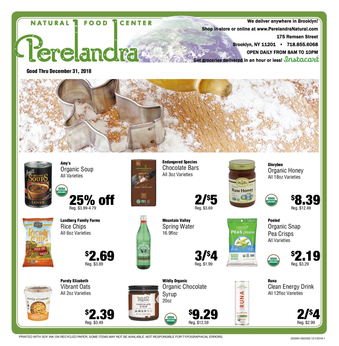 december 2018 sales flyer perelandra natural food center